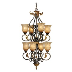 Caesar Walnut Patina Chandelier by Vaxcel Lighting