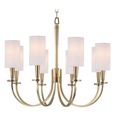 Mason 8 Light Chandelier - Aged Brass