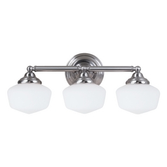 Schoolhouse Bathroom Light Brushed Nickel Academy by Sea Gull Lighting