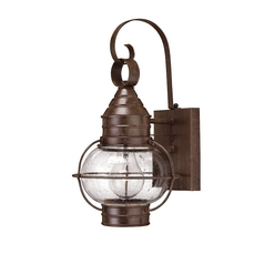 LED Outdoor Wall Light with Clear Glass in Sienna Bronze Finish
