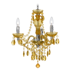 Mini-Chandelier in Gold Finish