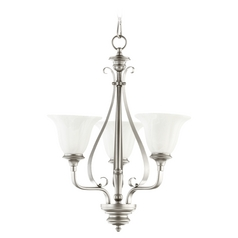 Quorum Lighting Randolph Classic Nickel Mini-Chandelier