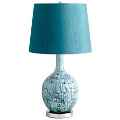 Cyan Design Jordan Teal Table Lamp with Empire Shade