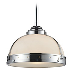 Elk Lighting Braiden Polished Chrome Pendant Light with Bowl / Dome Shade
