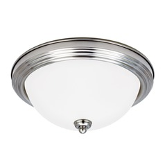 Sea Gull Lighting Ceiling Flush Mount Brushed Nickel LED Flushmount Light