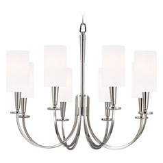 Mason 8 Light Chandelier - Polished Nickel