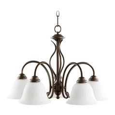 Quorum Lighting Spencer Oiled Bronze Chandelier