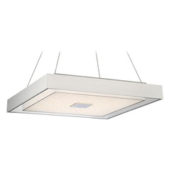 Lite Source Halona Chrome LED Pendant Light with Square Shade
