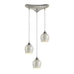 Modern Multi-Light Pendant Light with Grey Glass and 3-Lights