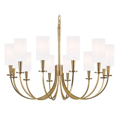 Mason 12 Light Chandelier - Aged Brass