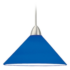 WAC Lighting Contemporary Collection Brushed Nickel Mini-Pendant with Conical Shade