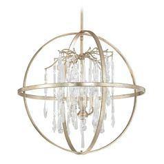 Capital Lighting Carrington Winter Gold Pendant Light