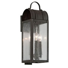 Troy Lighting Bostonian Charred Iron Outdoor Wall Light
