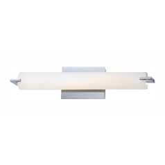 Tube Chrome LED Bathroom Light - Vertical or Horizontal Mounting