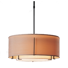 Iron Pendant Light with Double Drum Shades