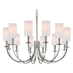 Mason 12 Light Chandelier - Polished Nickel
