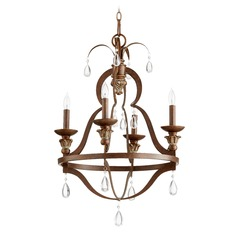 Quorum Lighting Venice Vintage Copper Mini-Chandelier