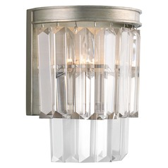 2-Light Prismatic Glass Sconce in Satin Nickel by Progress Lighting