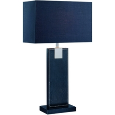 Lite Source Lighting Remigio Black Table Lamp with Rectangle Shade