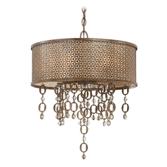 Drum Pendant Light in French Bronze Finish