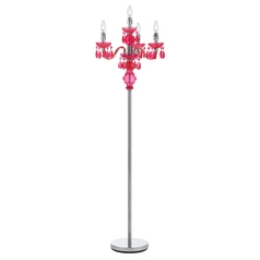 Floor Lamp in Pink Finish