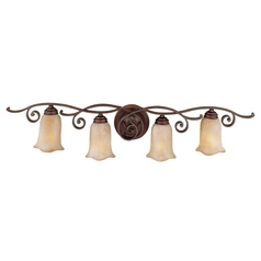 Feiss Lighting Bathroom Light with Beige / Cream Glass in Corinthian Bronze Finish VS8104-CB