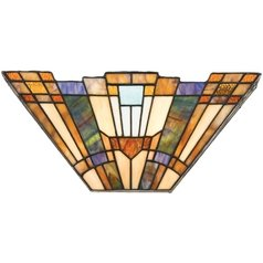 Sconce with Tiffany Glass in Valiant Bronze Finish