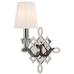 Fowler 1 Light Sconce - Polished Nickel