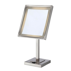 Lite Source Lighting LED Lighted Makeup Mirror in Polished Steel Finish  LS-21951PS