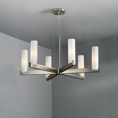Illuminating Experiences 6-Light Chandelier in Satin Nickel