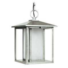Sea Gull Lighting Hunnington Weathered Pewter LED Outdoor Hanging Light