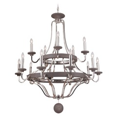 Craftmade 15-Light Chandelier in Polished Nickel / Greywood Finish