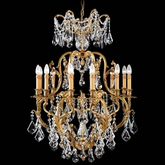 Crystal Chandelier in French Gold Finish
