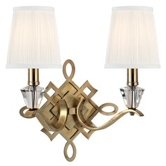 Fowler 2 Light Sconce - Aged Brass