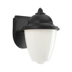 LED Outdoor Wall Light with White in Black Finish