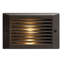 LED Recessed Step Light in Bronze Finish