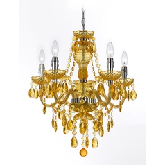 Chandelier in Gold Finish