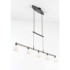 Holtkoetter Modern Low Voltage Pendant Light with White Glass in Hand-Brushed Old Bronze Finish