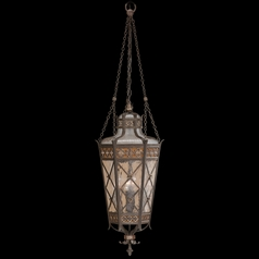 Fine Art Lamps Chateau Outdoor Umber Patina with Gold Accents Outdoor Hanging Light