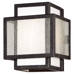 Minka Camden Square Aged Charcoal Sconce