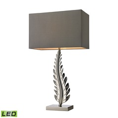 Dimond Lighting Polished Nickel LED Table Lamp with Rectangle Shade