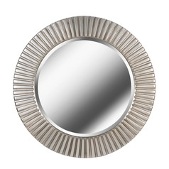 Art Deco Decorative Mirror Silver North Beach by Kenroy Home Lighting