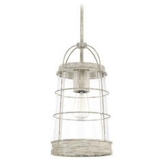 Capital Lighting Beaufort Mystic Sand Pendant Light with Conical Shade