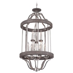 Craftmade 9-Light Pendant in Polished Nickel / Greywood Finish
