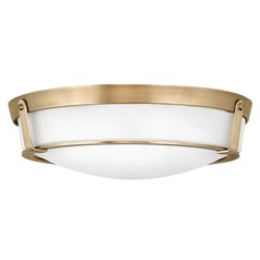 Hinkley Lighting Hathaway Heritage Brass Flushmount Light
