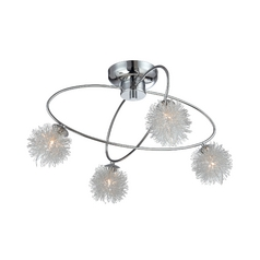 Lite Source Lighting Hallan Chrome Flushmount Light