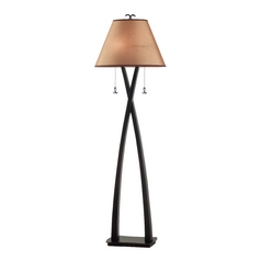 Floor Lamp with Gold Shades in Oil Rubbed Bronze Finish