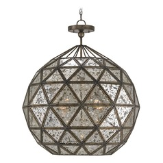 Buckminster Pyrite Bronze Chandelier
