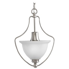 Progress Lighting Madison Brushed Nickel Pendant Light with Bell Shade