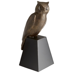Cyan Design It's a Hoot Acid Brown Sculpture
